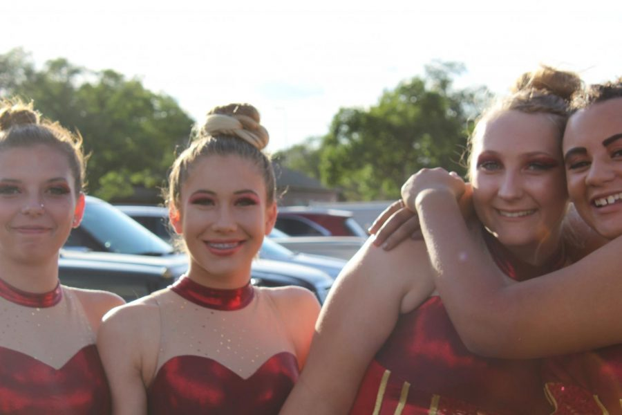 GJHS color guard members (Left to Right)  Mikayla Turnage, Maddie Hawks, Kenzie Turner, Kya Hutton.
