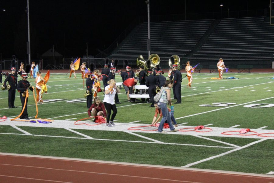 Central High School marching band takes the field and sets for