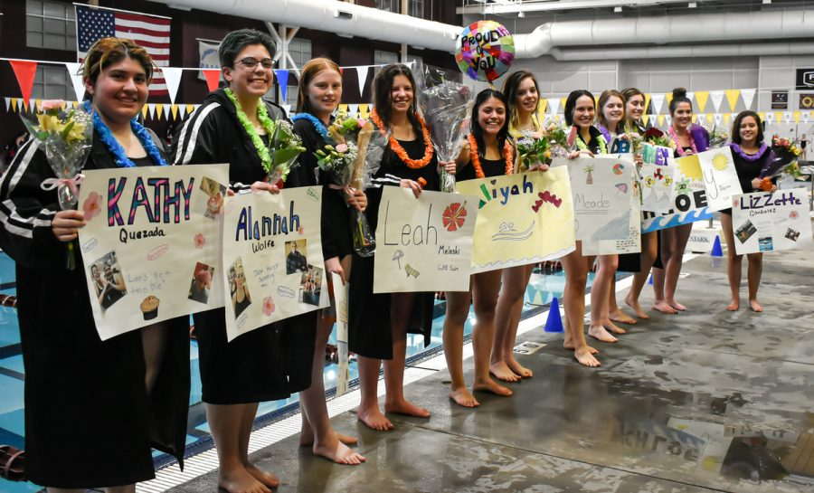 Girls Swimming Senior Night