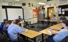 GJHS Academic Team members run questions at practice on Tuesday, August 24.